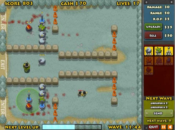 awesome tower defense games penguins attack td 2 600x447 13 Most Awesome Free Tower Defense Games
