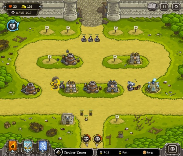 best tower defense games kingdom rush 600x512 13 Most Awesome Free Tower Defense Games