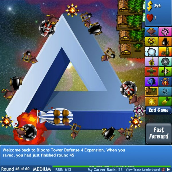 free tower defense game flash bloons 4 td expansion 600x598 13 Most Awesome Free Tower Defense Games