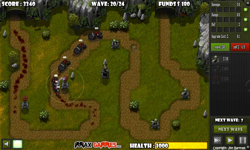 tower defence games online