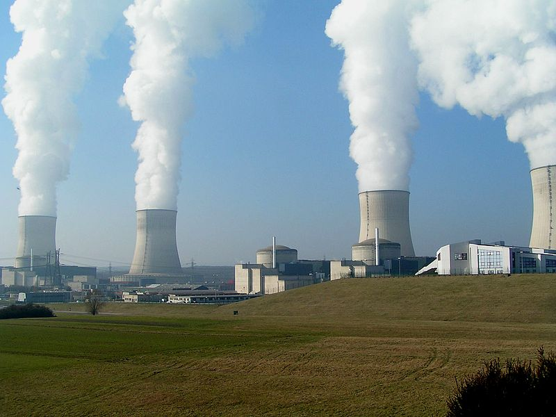 Cattenom Nuclear Power Plant in France: About 75% of French electricity is generated by nuclear power plants