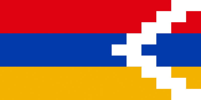 No this this not a pixel art version of the Nagorno-Karabakh flag, it's the real deal!