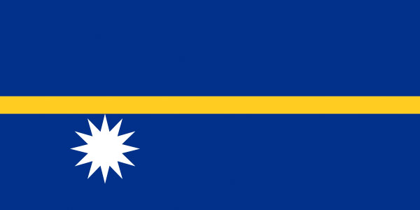 The flag of Nauru