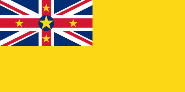 The flag of Niue. I wonder which country has something to do with this tiny island nation.