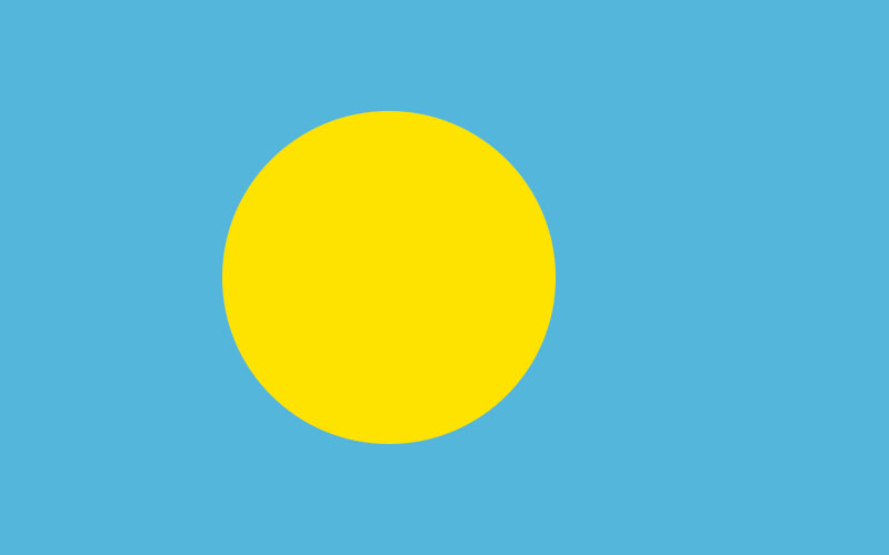 The flag of Palau