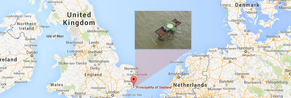 "Sealand is a self-acclaimed nation off the coast of England, ""de facto recognized"" as a country through a strange hostage situation."