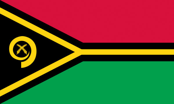 The Vanuatu nation flag.